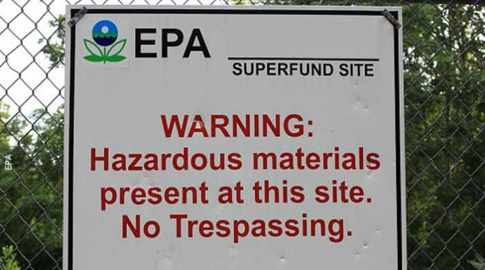 Superfund sign