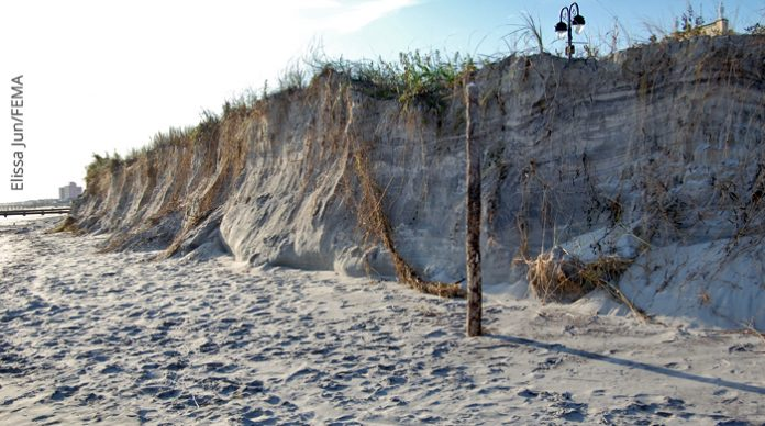 beach erosion at Jersey Shore