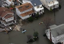 Belmar flooded by Hurricane Sandy