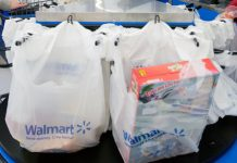 Plastic bags at Walmart