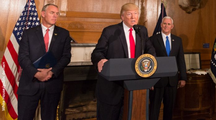 Zinke, Trump and Pence