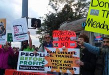 Meadowlands power plant protestors